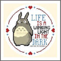 Totoro Life Original Cross Stitch Pattern. Studio Ghibli. Miyazaki Digital Download PDF by Stitchfamous 2.99 USD http://ift.tt/1IebRE8
