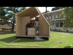 Folding Whare- portable disaster relief shelter