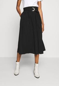 Vero Moda VMCOC SKIRT - A-line skjørt - black - Zalando.no Waist Skirt, Midi Skirt, High Waisted Skirt, Summer Looks, A Line Skirts, Black, Fashion, Moda, Midi Skirts