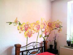 Wand-Deko - handgemalte Wandmalerei fürs Schlafzimmer - ein Designerstück von wandklex bei DaWanda mural by  © wandklex Ingrid Heuser, Ratzeburg/Germany