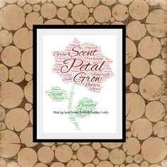 a4 word collage personalised wall art personalised prints