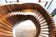 Treppe im Hotel Arakur Ushuaia Feuerland - #stairs #architecture #wood #hoteldesign