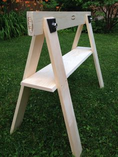 Pine Sawhorse with Stainless Steel fasteners - Durable, Strong, Lightweight, Stable, & Elegant - Exterior/Interior Use