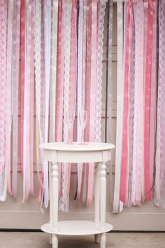 Ribbon And Lace Backdrop   DIY Photo Booth Ideas For Your Next Shindig