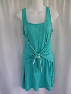 9d34260881f24 Tommy Hilfiger Women's Core Bathing Suit Coverup Dress XS Turquoise 90 for  sale online   eBay