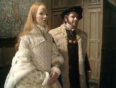 Elizabeth's White Tudor Gown with Ermine (Elizabeth R, 1971)