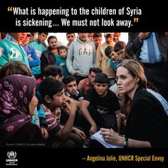 Help share this message from UNHCR Special Envoy Angelina Jolie: