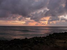 Sunset on the North Shore, #Oahu. Taken from Turtle Bay.