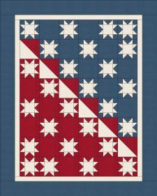 Perfect for a scrap quilt Flag Quilt, Patriotic Quilts, Star Quilts, Quilt Blocks, Navy Quilt, Quilt Art, Cute Quilts, Mini Quilts, Zentangle