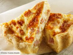 Quiche lorraine - recipe in French Classic French Dishes, French Food, Quiche Recipes, Tart Recipes, Batch Cooking, Cooking Time, Salty Cake, Recipe Mix, Eat Smarter