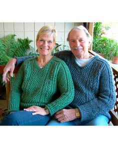 Hugs 'n Kisses Cable Pullover - Knitting Patterns and Crochet Patterns from KnitPicks.com