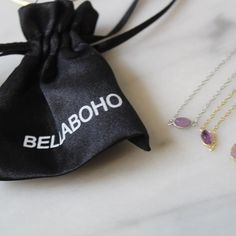 Gems💜✨💎 || P.S. Every #bellabohojewelry comes in a sachet like this one ✨|| Always store your jewelry in a pouch so whether it's in your purse, gym bag or jewelry box, your goods are in a safe place. Plus, it makes it easy pack when it's time to travel.  _______ #jewelrycare #jewelrylovers Boho Jewelry, Jewelry Box, Safe Place, Dog Tag Necklace, Gym Bag, Pouch, Gems, Purses, Store