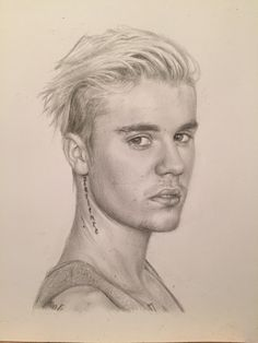 Justin Bieber Drawing by Charlotte Oxenham