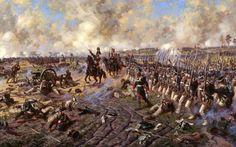 El Príncipe P. I. Bagration en la batalla de Borodino. Último contraataque  Aleksandr Yurevich Averyanov.