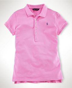 Ralph Lauren Kids Shirt, Little Girls Mesh Polo Shirt - Kids Girls 2-6X - Macy's $35.00 #MacysBTS
