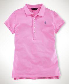 Ralph Lauren Kids Shirt, Little Girls Mesh Polo Shirt - Kids Girls 2-6X - Macy's $35.00 #MacysBTS