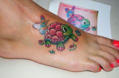 Baby Sea Turtle Tattoos | Cartoon Turtle Tattoo via john2dope