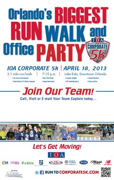 We're gearing up fo rthe BIGGEST walk/run and office party-CORPORATE 5k! Thursday, April 28th... :)
