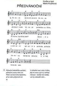 Vánoční písnička: Advent, Christmas Time, Sheet Music, Education, The Originals, School, Fasion, Piano, Musica