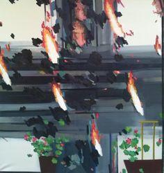 Andrius ZakarauskasBurning Bush, 2015 Burning Bush, Make Art, 9 And 10, Oil On Canvas, Artsy, Artwork, Objects, Painting, Work Of Art