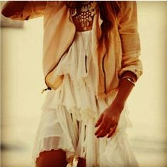 Jacket + summer dress = love