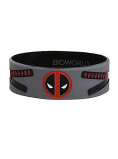 Marvel Deadpool Swords Logo Rubber Bracelet,
