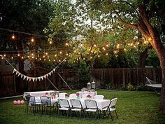 awesome string lights for outdoor backyard party inspiring outdoor party lighting ideas for setting the mood