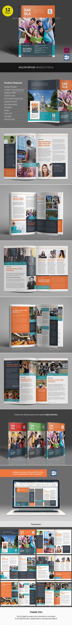 Corporate Newsletter Template  MockUp  Newsletter Templates