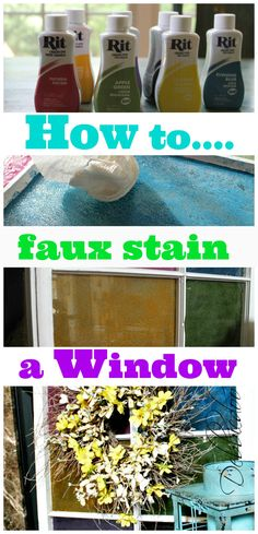 How to faux stain a window with Rit dye and Mod podge