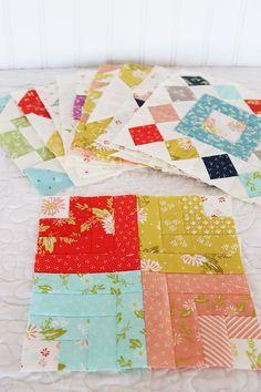 Moda Block Heads 3 - Block 38 Fractured Rainbow 4'', 6'', 8'' & 12'' Pattern Blocks, Block Patterns, Block Head, Quilt Blocks, Quilting, Rainbow, Blanket, Sewing, Nicu