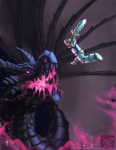 Courage Against the Galaxies by TeaDino. Check out this worthy Ender Dragon Fan Art - Minecraft