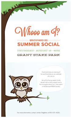 Brickyard Relief Society Activity: Whooo am I? Summer Social