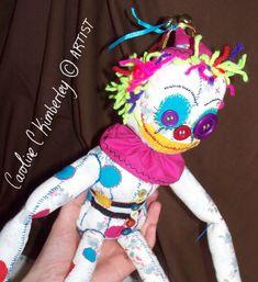Ziggy the Clown Rag Doll Craft piece (Not A Toy) £55.00