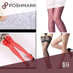 Pair Solid Sexy  Women Underwear pantyhose sheer Bundle 3 for $18 Pair Solid Sexy Lingerie Pajamas Jumpsuit Women Underwear Leggings Lace Top Sheer Stay Up Thigh High Stockings Pantyhose Intimates & Sleepwear Shapewear