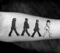 Inner Forearm Male Beatles Tattoo Ideas
