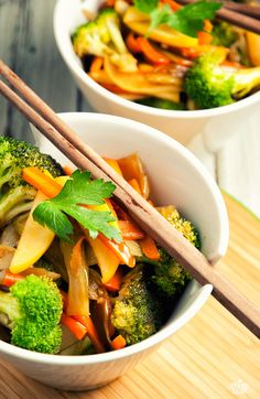 Apple and Vegetable Stir-Fry. A good mix of fruit and vegetables in this one.