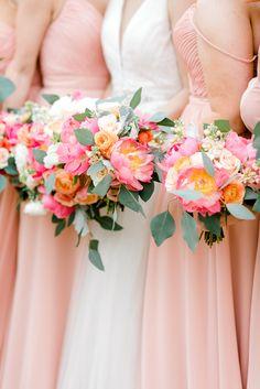 Dallas Texas Wedding Planners: A Stylish Soiree Prom Flowers, Flower Bouquet Wedding, Floral Wedding, Bride Bouquets, Bridesmaid Bouquet, Wedding Bridesmaids, Bridesmaid Dresses, Spring Wedding Colors, Bright Color Wedding