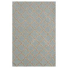 Hooked Plain Tin Slate Micro Geometric Area Rug