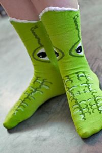 Just when you thought it was safe to go back into the water, these freshwater counterparts to the 3-D shark socks emerge to gobble your feet up.   Great gift & a fun way to amuse kids, or yourself.