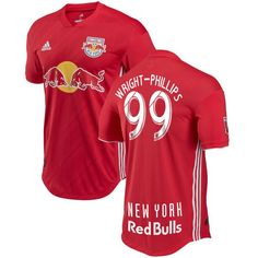 2563a1401 Wright-Phillips  99 New York Red Bulls Red 2018 Away MLS SOCCER Jersey