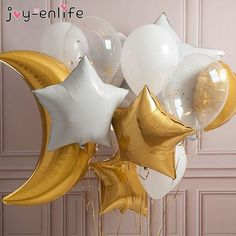 Cheap Ballons & Accessories, Buy Directly from China Suppliers:JOY-ENLIFE Moon/Star/Sun/Rainbow/Clund Balloons Aluminum Foil Air Globos Wedding Baby Shower Birthday Decoration Party Supplies Balloon Centerpieces, Balloon Decorations, Birthday Decorations, Decoration Party, Moon Balloon, Letter Balloons, Girl Birthday, Birthday Parties, Bubblegum Balloons