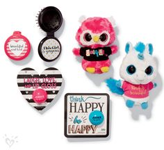 Sweet and sentimental. With our foldable brush, lip gloss and adorable plush toys, small treasures come with a big message.