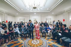 Chinese Tea Pouring Ceremony at the Ritz Carlton in San Francisco, CA. Captured by NYC wedding photographer Ben Lau.