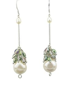 WTBOASER Womens Handmade Retro Style Long Chain with Crystals and Pearl on Tail Dangle Drop Earrings Set - Brought to you by Avarsha.com