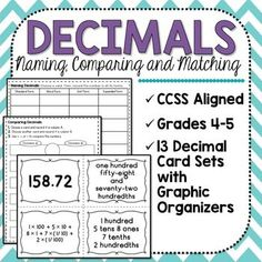 Decimals! Use this product to play games and practice naming and comparing decimals!
