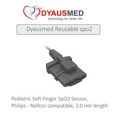 Pediatric Soft Finger SpO2 Sensor, Philips - Nellcor  compatible, 3.0 mtr length scorpia sales & service carnival 2015