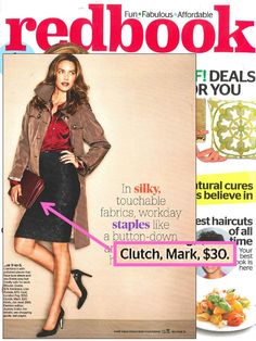 mark's Push The Envelope Bag featured in @REDBOOK Magazine