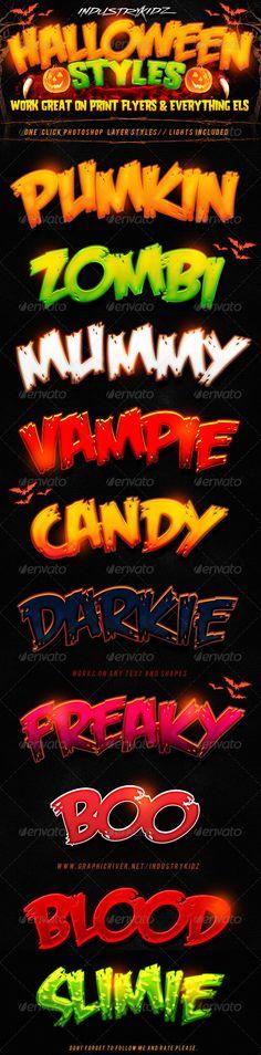 Halloween Photoshop Layer Styles