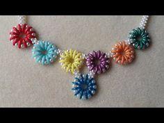 Beaded Jewelry, Jewelry Necklaces, Beaded Necklace, Beaded Bracelets, Beading Tutorials, Beading Patterns, Estilo Hippy, Necklace Tutorial, How To Make Beads