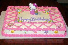 Happy Birthday Sheet Cake   Hello Kitty Sheet cake - My Cake Place